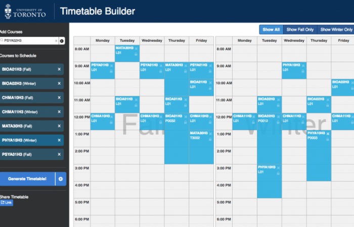 Time Table Builder 2018